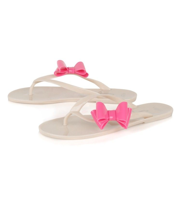 35d4f7c88 Jelly bow flip flops from Lipsy
