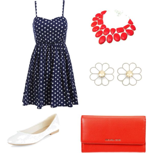 4th of July by lonnie1966 on Polyvore featuring polyvore fashion style MICHAEL Michael Kors Cheap Monday