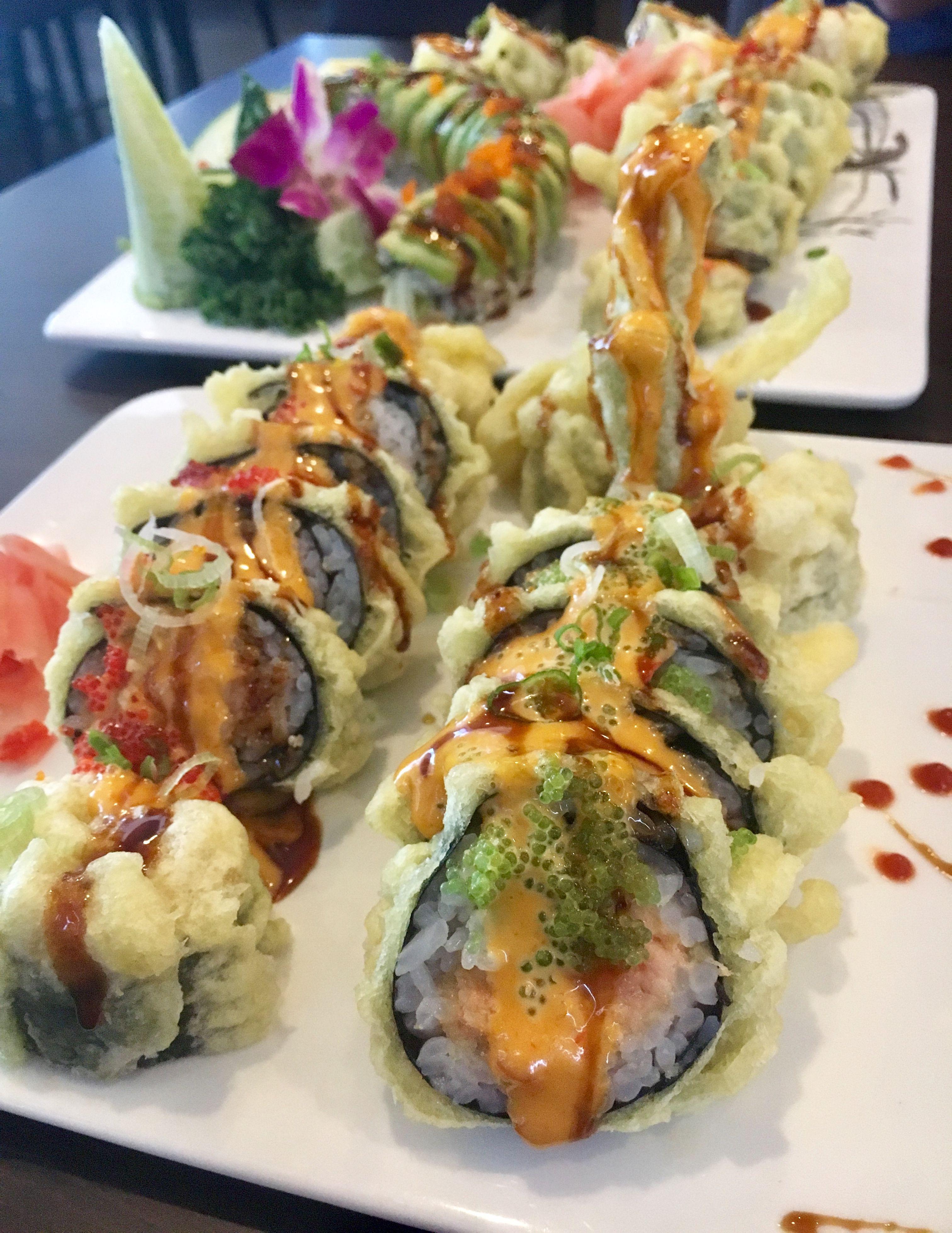 Godzilla roll wisconsin roll deep fried sushi rolls
