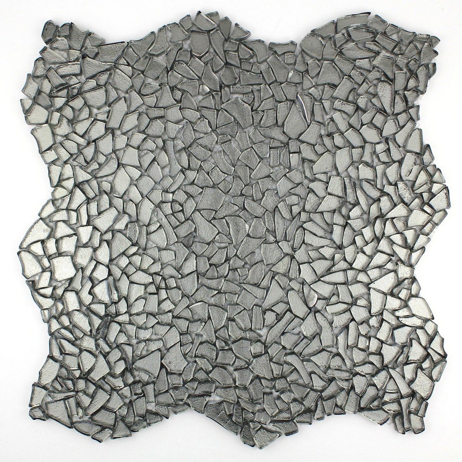 carrelage verre mosaique sol et mur osmose chrome 14 50 s