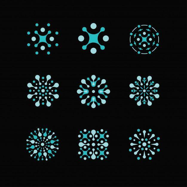 Science logos biology physics chemistry logo laboratory identity atom logosatom