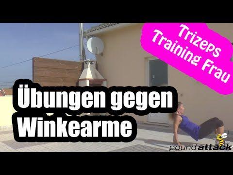 Armmuskeltraining gegen Winkearme - Chicken wings - YouTube