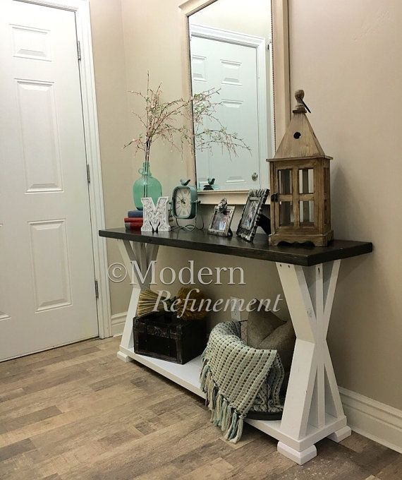 Stunning Handmade Rustic Farmhouse Entryway Table Sofa