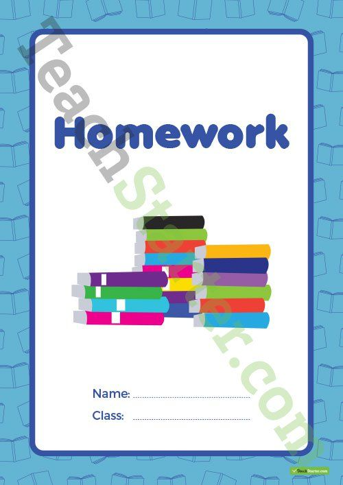 Homework Book Cover Ideas ~ Homework book cover version teaching resource page