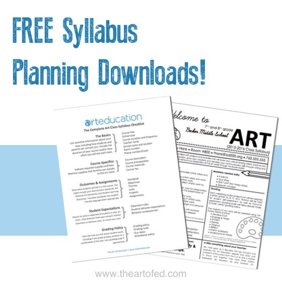 Art Class Syllabus For K 12 Students The Art Of Education University Class Syllabus Middle School Syllabus Syllabus Template