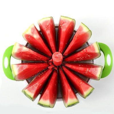 Watermelon Cutter Cantaloupe Melon Slicer Kitchen Fruit Divider Stainless Steel