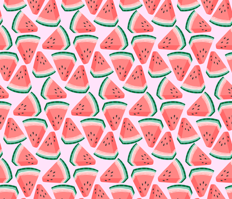 Watermelon Fabric By Kristinnohe On Spoonflower