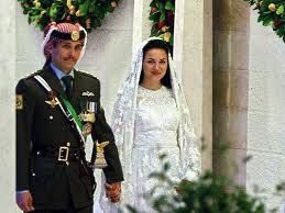 Prince Hamzah of Jordan married his second cousin, Princess Noor, in 2003, but the official wedding was held in 2004.  After one child, they divorced in 2009.  In 2012, Prince Hamzah married a second time to Princess Basmah.