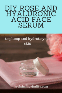 DIY Rose and Hyaluronic Acid Face Serum #faceserum