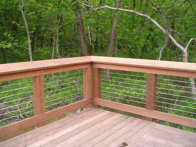 Deck Wire Railing Cable Railing For Decks Photo Gallery By The