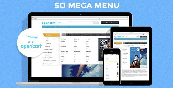 So Mega Menu - Drag & Drop | Responsive OpenCart 3 0 x