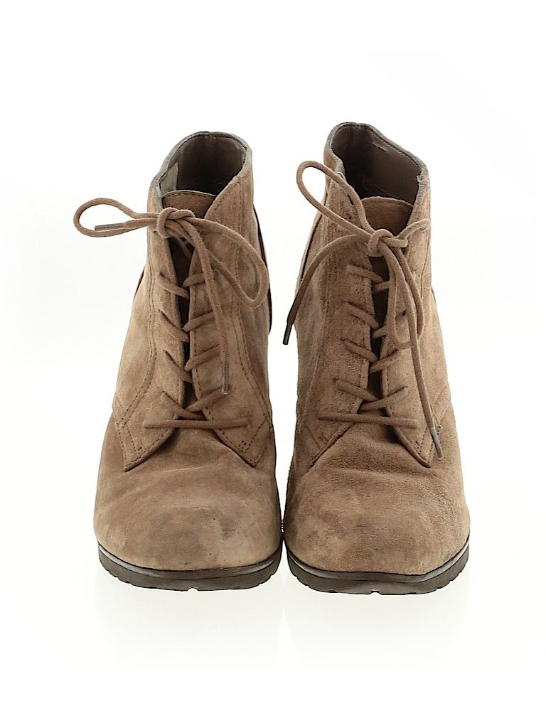 White Mountain Ankle Boots: Tan Solid