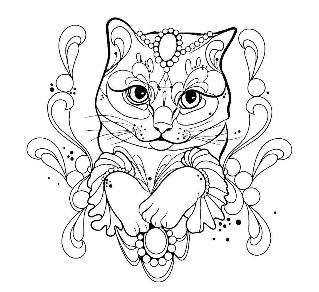 Pin By Yefeng On Katzen In 2020 Cat Tattoo Designs Cat Tattoo Animal Coloring Pages