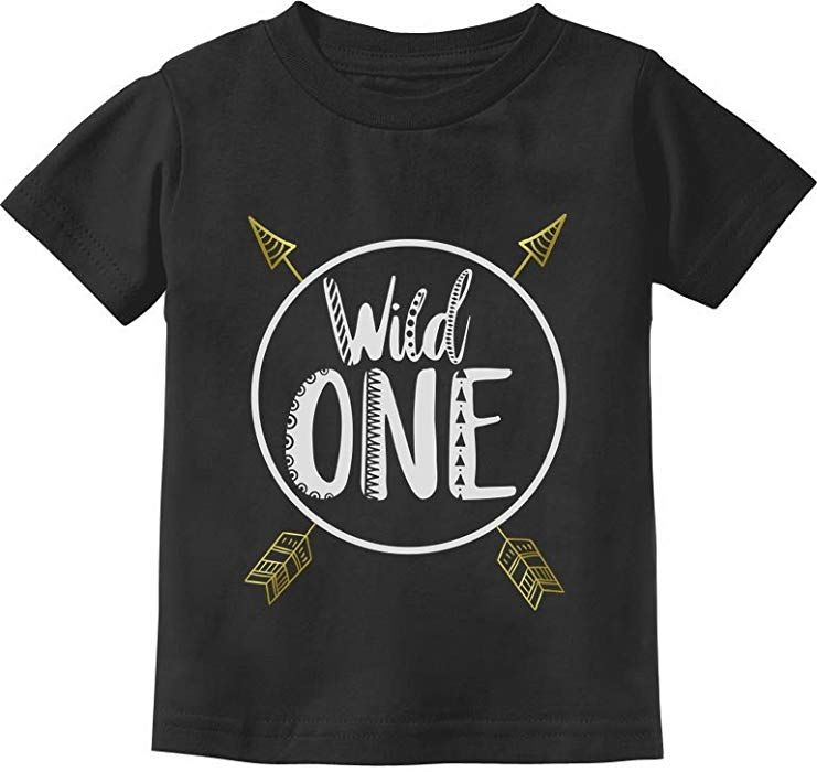 Amazon Wild One Baby Boys Girls 1st Birthday Gifts Year Old Infant Kids T Shirt 24M Black Clothing