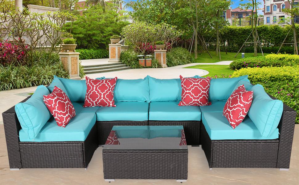 do4u patio sofa 7-piece