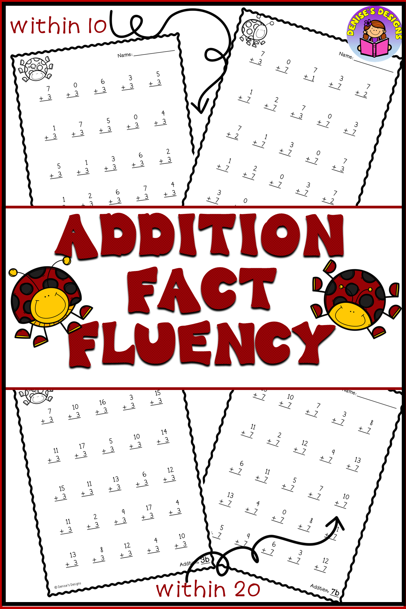 Addition Facts To 20 Worksheets Addition Facts Fact Fluency Addition Fact Fluency [ 2016 x 1344 Pixel ]