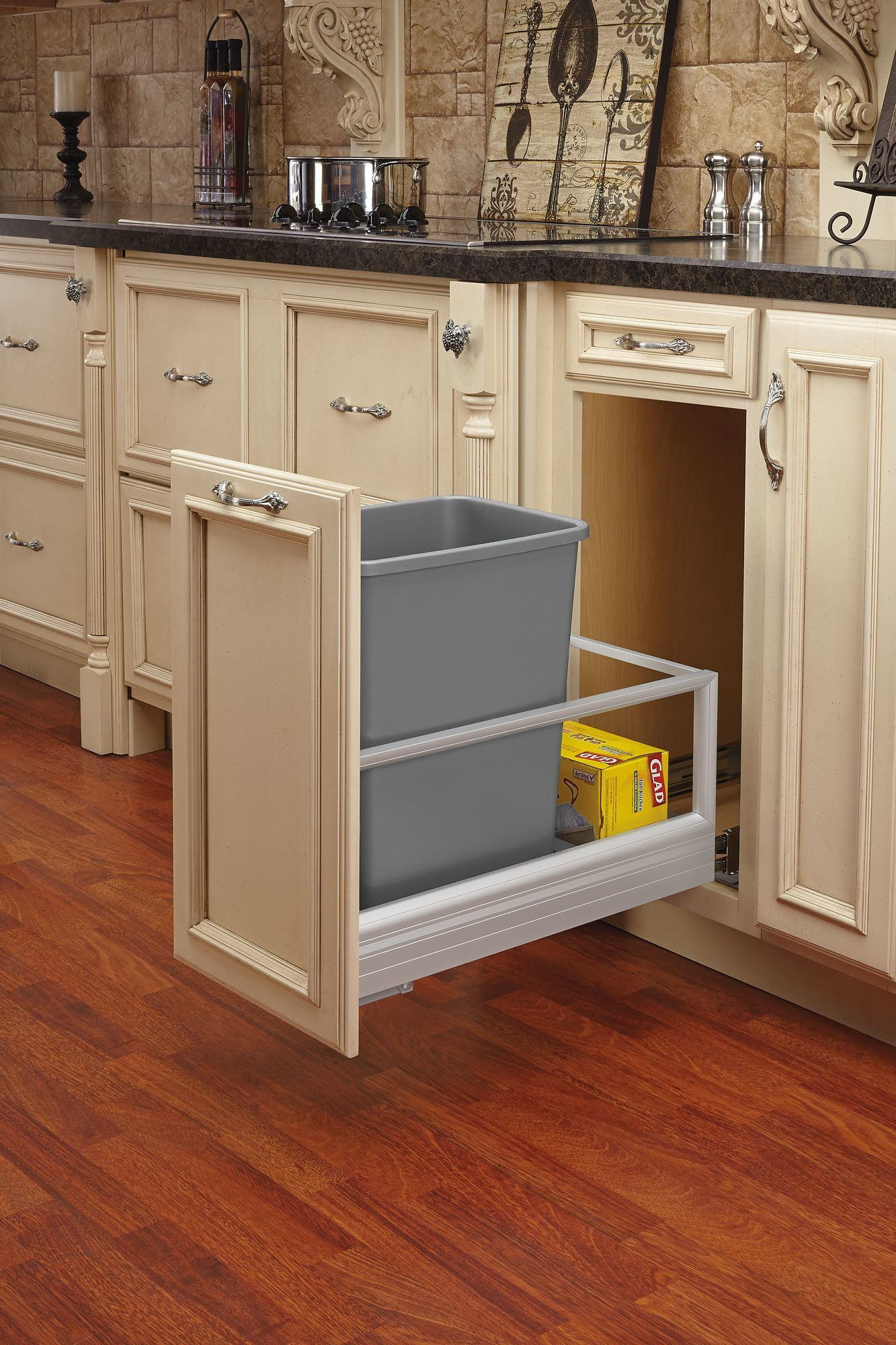 Rev A Shelf 22 35 Quart Pullout Waste Container Kitchen Design Kitchen Cabinet Design Kitchen Design Small