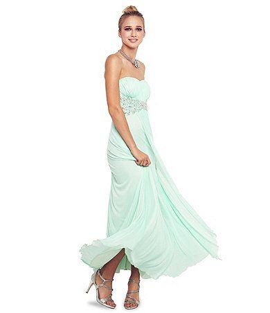 Available at Dillards.com #Dillards. Cute mint Prom dress ...