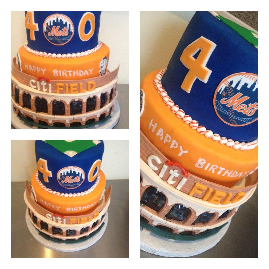 NY Mets Themed Birthday Cake By Tweet's Cakery