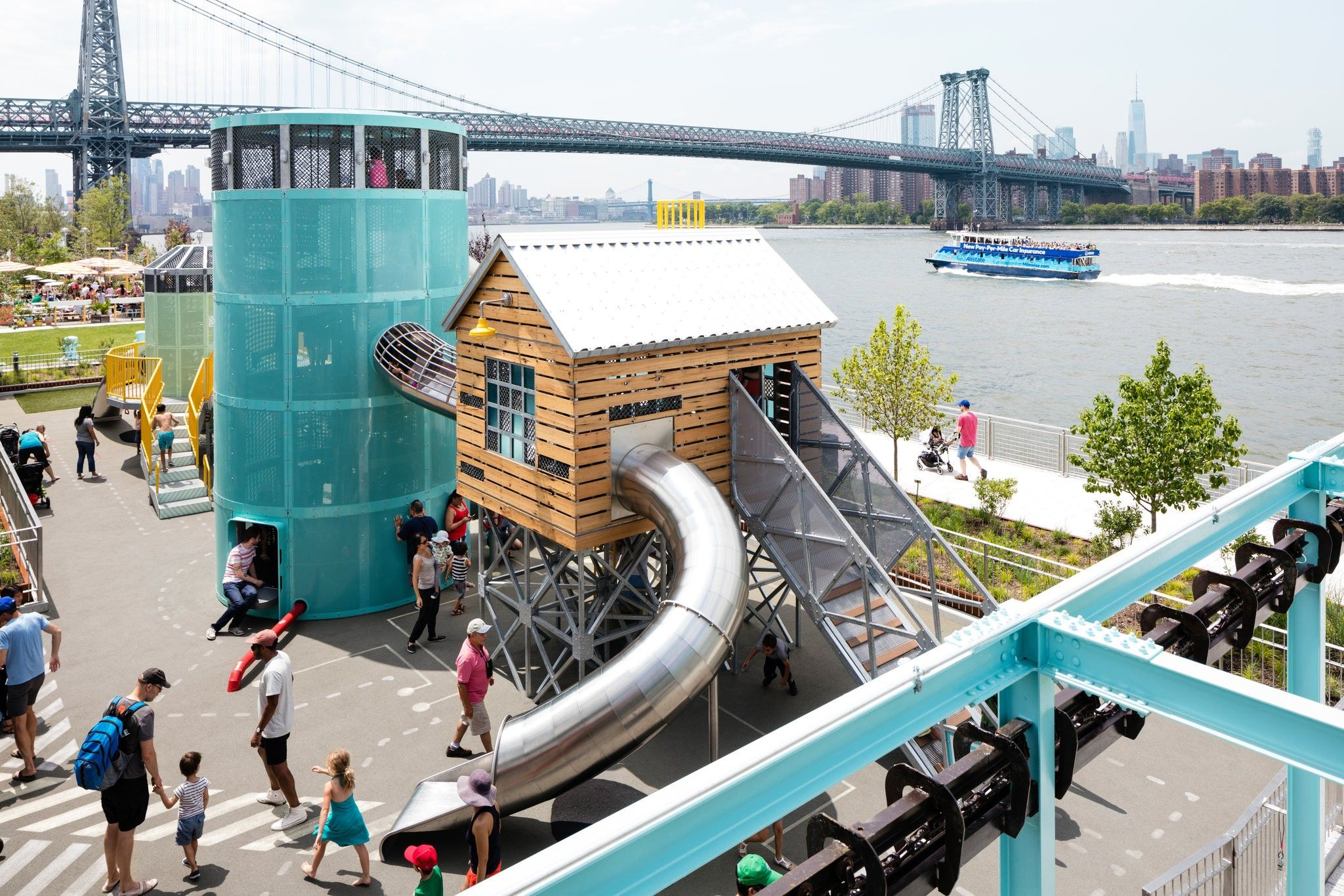 3 Lush Parks Drastically Remake The East River Waterfront The