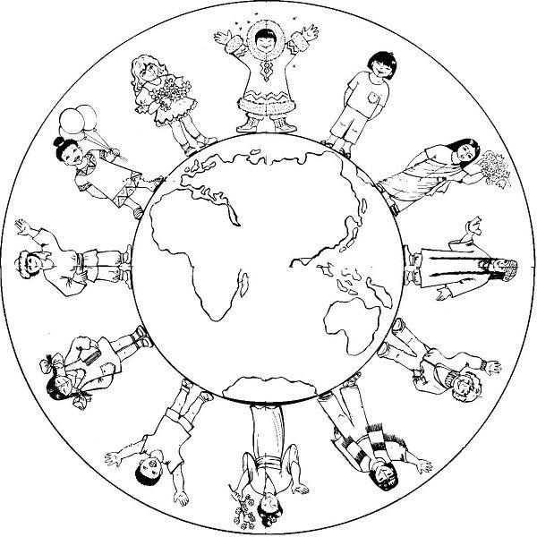 Dünya çocuk Günü Boyama Sayfaları 23 Nisan çocuk Bayrami Schule