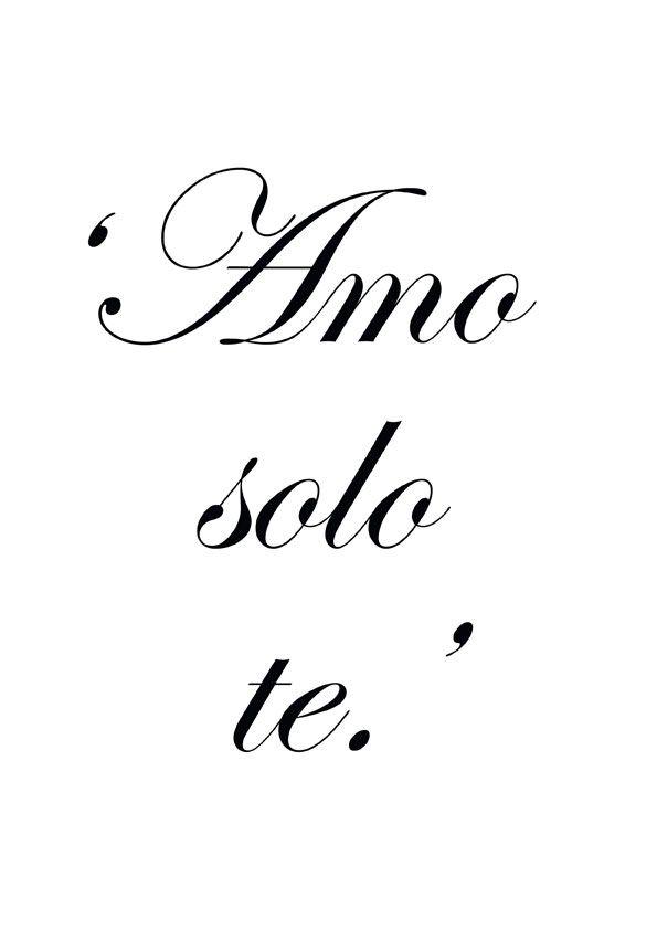 Italian Love Quotes Enchanting ♔ 'I Love Only You' Tats Pinterest Language Tattoo And Italia