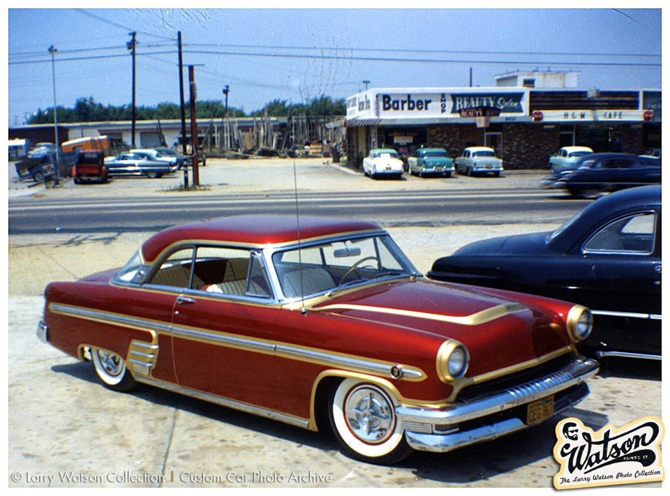 1954 Mercury with Watson paint job. Candy red with pale gold ...
