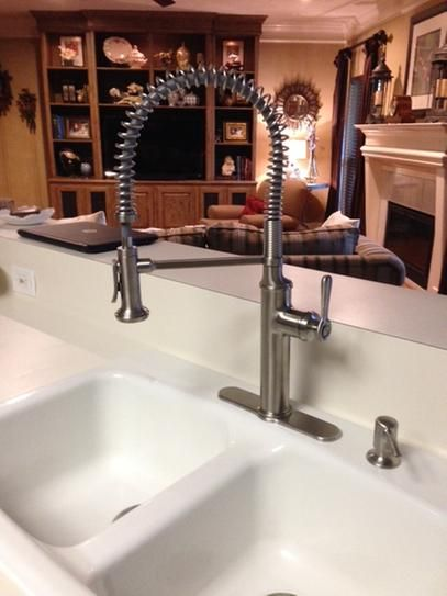 KOHLER Sous Pro Style Single Handle Pull Down Sprayer Kitchen Faucet In  Vibrant