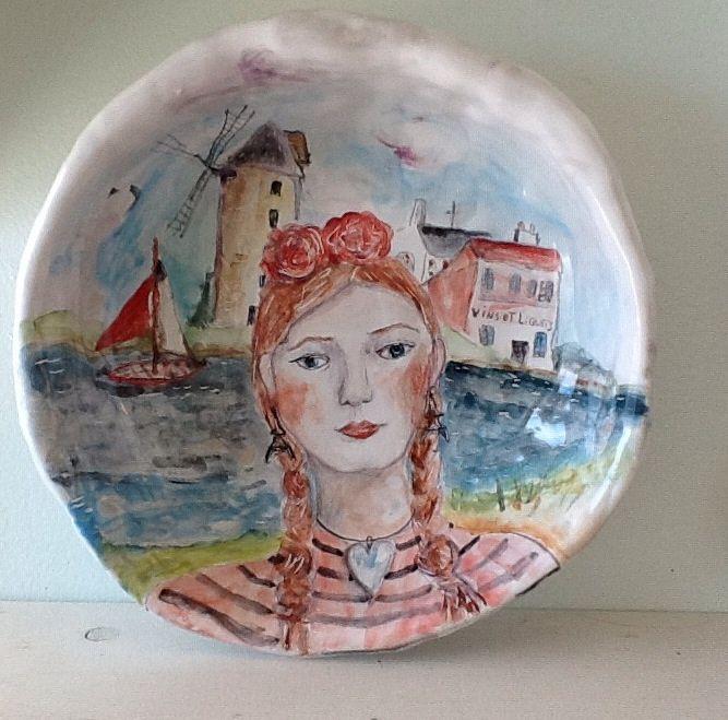 La Vie en Rose Large porcelain bowl Julie whitmore