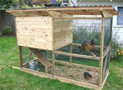 chicken tractor using the garden ark and the garden coop plans - Chicken Coop Design Ideas