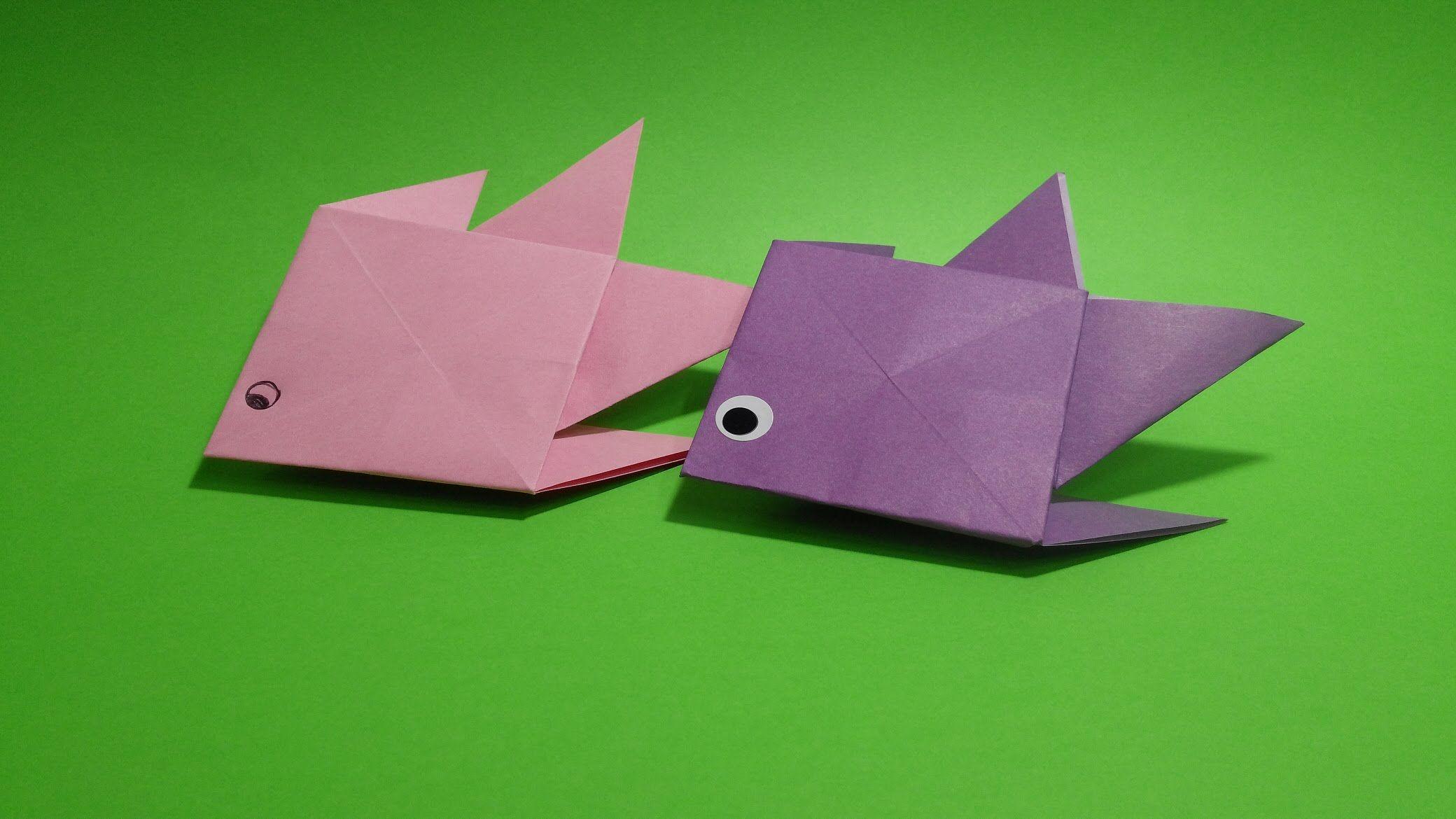 물고기 색종이 접기 - Origami Confetti Fish