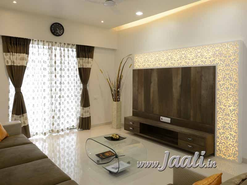 Jaali Concepts In 2019 Flat Interior Design Tv Unit