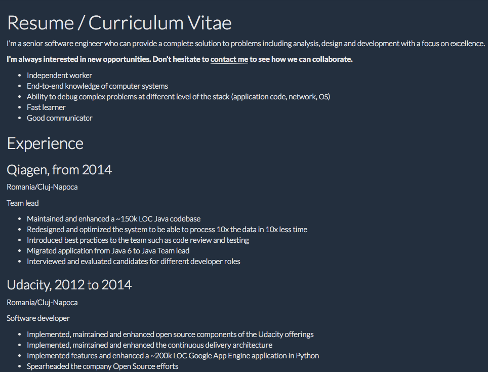 Software Developer Resume Resume Curriculum Vitae I M A Senior Software Engineer Who Can Provide A C Resume Template Examples Resume Sample Resume Templates