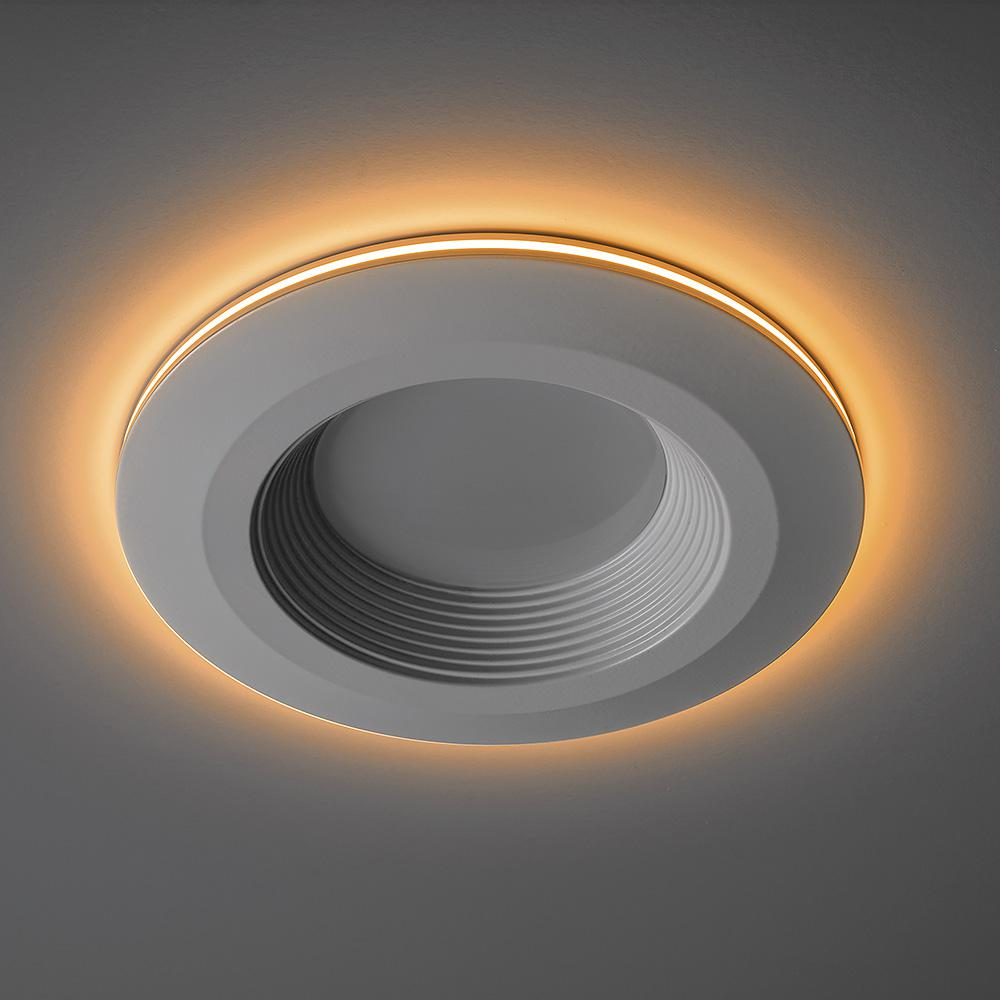 Commercial Electric 4 In Selectable Integrated Led Recessed Trim Can Light With Night Light Feature 5 Cct 625 Lumens 11 Watts Dimmable 53805101 Can Lights Night Light Led Recessed Lighting