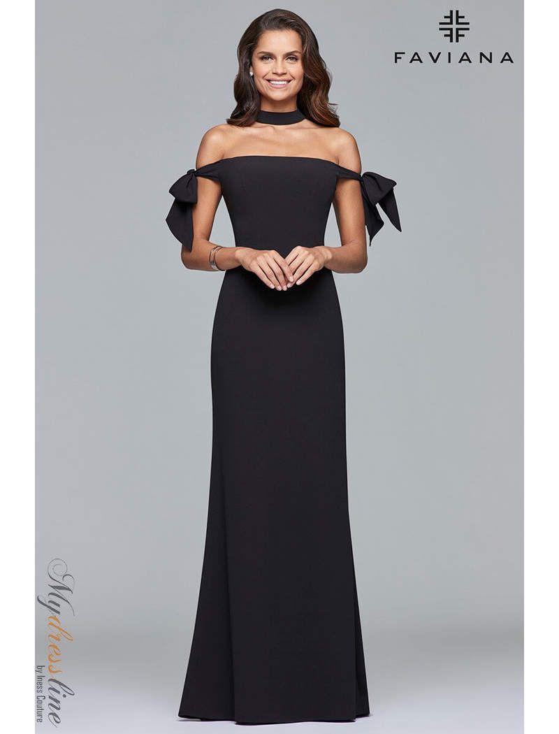 Faviana S10075 Dress Crepe Dress Dresses Evening Dresses