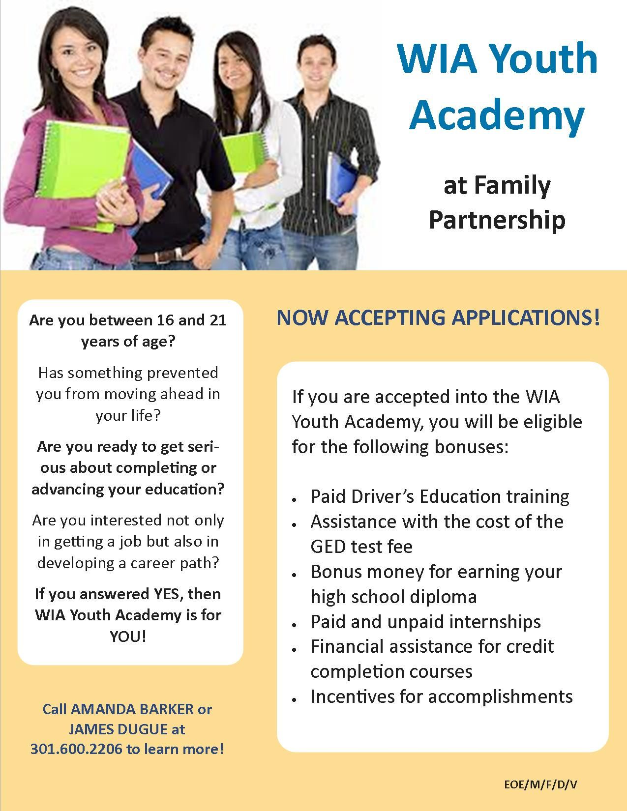 Learn about the WIA Youth Academy! Youth programs, Youth