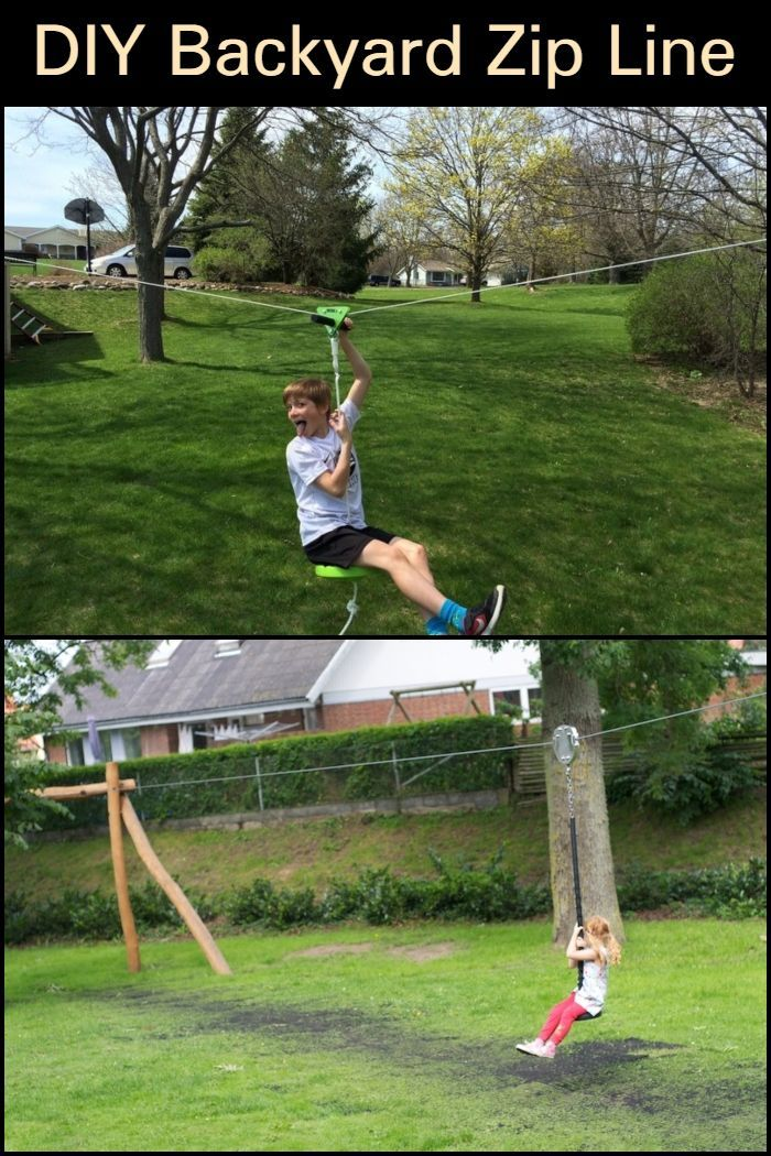 How to Build Your Own Backyard Zip Line | Diy zipline ...