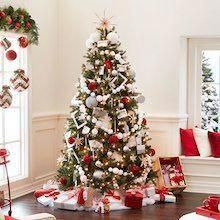 Peppermint Lane Snowball Christmas Tree Décor #christmasdecorating #christmashome