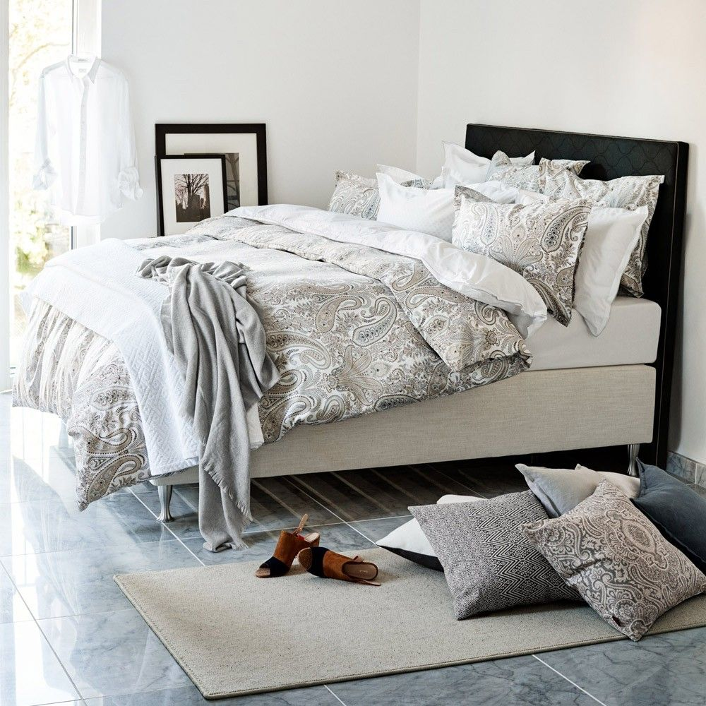 Delightful Bed Linen Ideas Part - 9: Gant Key West Paisley Bed Linen - Grey