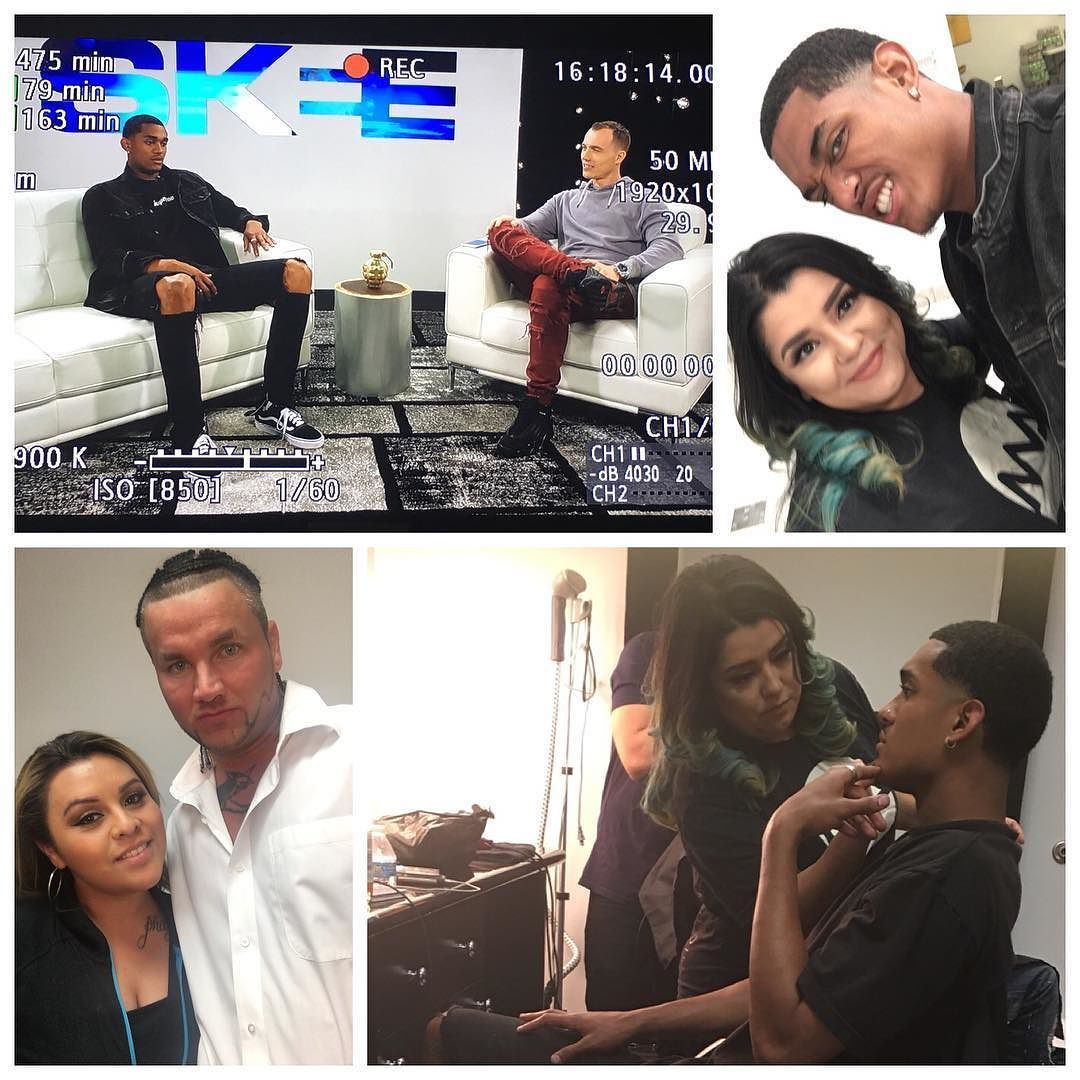 Back at with @skeetv on @fusetv @michaelvincentacademy The official glam squad for SKEE TV #GO #TEAMMVA by michaelvincentacademy