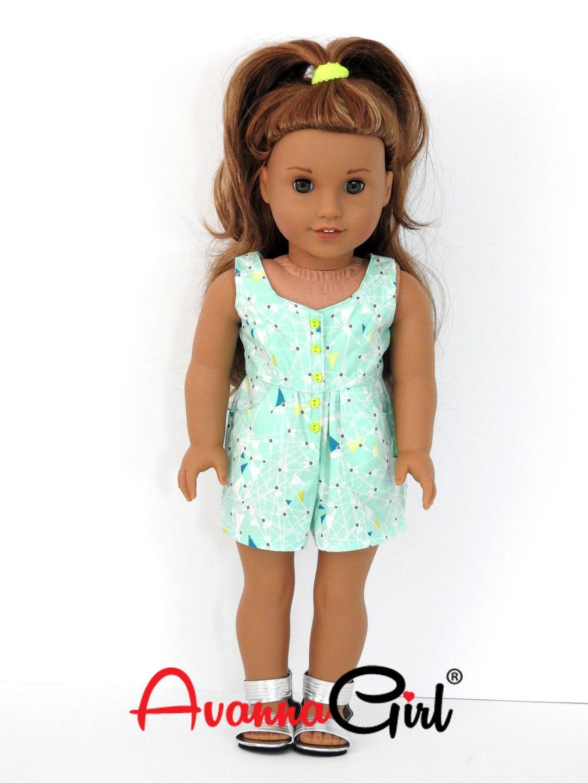 Surfrider Romper for American Girl Doll, 18 Inch Doll | Muñecas ...