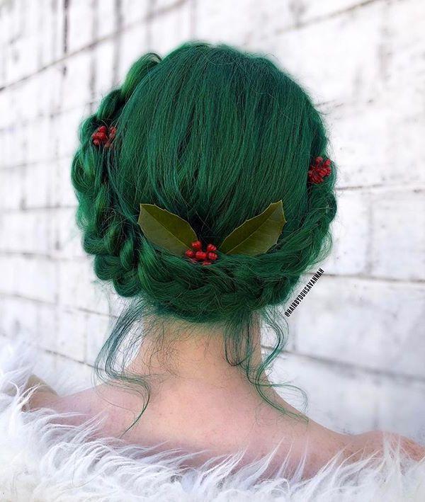 Christmas Hair Trends 2020 5 Tendances cheveux de Noël 2018 in 2020 | Rainbow hair color
