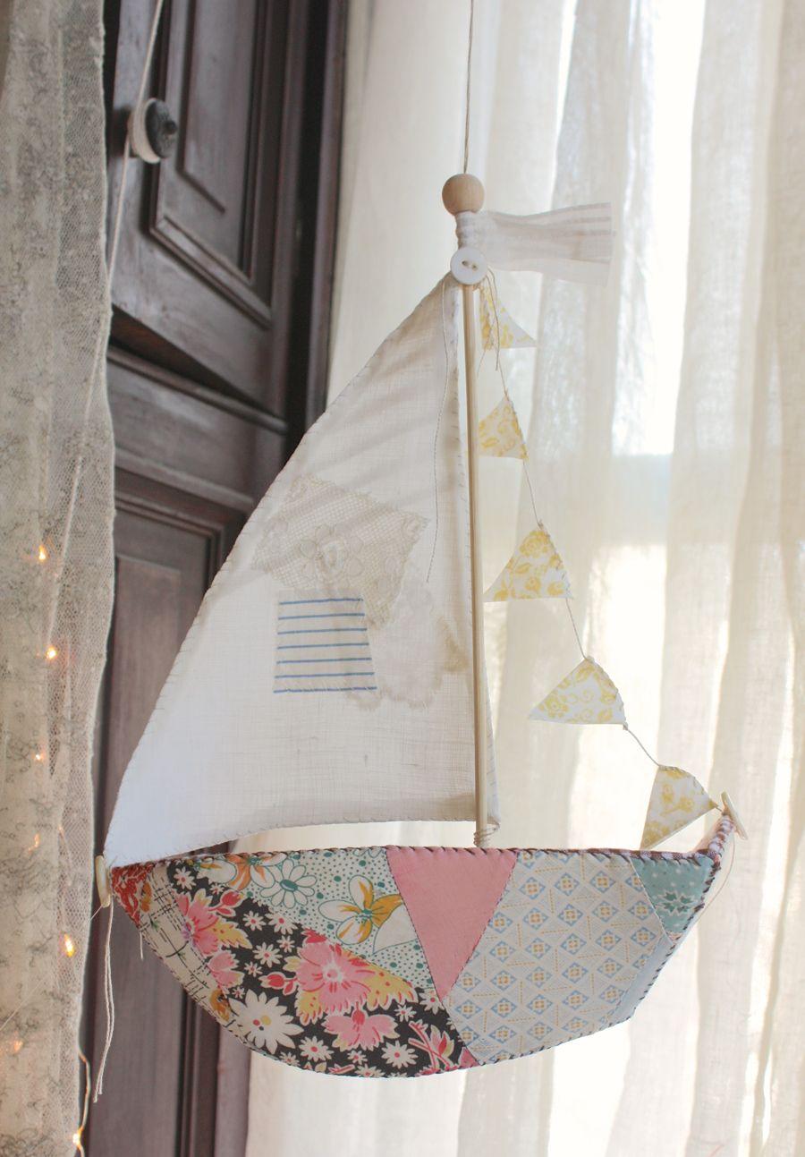 Sailboat : pdf pattern en 2018 | Veleros de trapo | Pinterest ...
