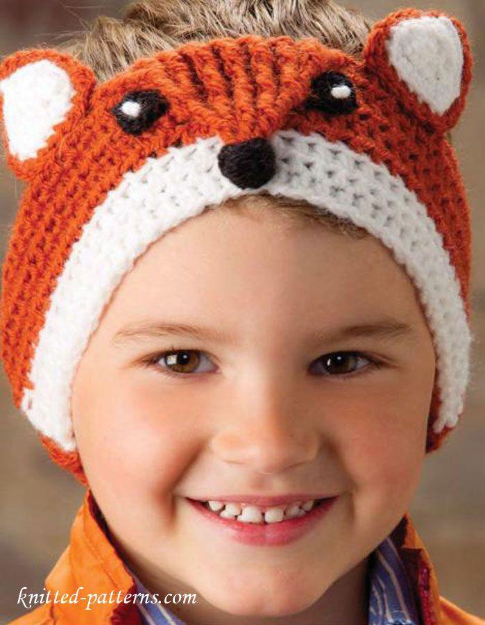 Fox headband crochet pattern free | Bebés Crochet | Pinterest ...