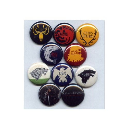 GAME OF THRONES - PINS BUTTONS BADGES (martin stark lannister hbo)