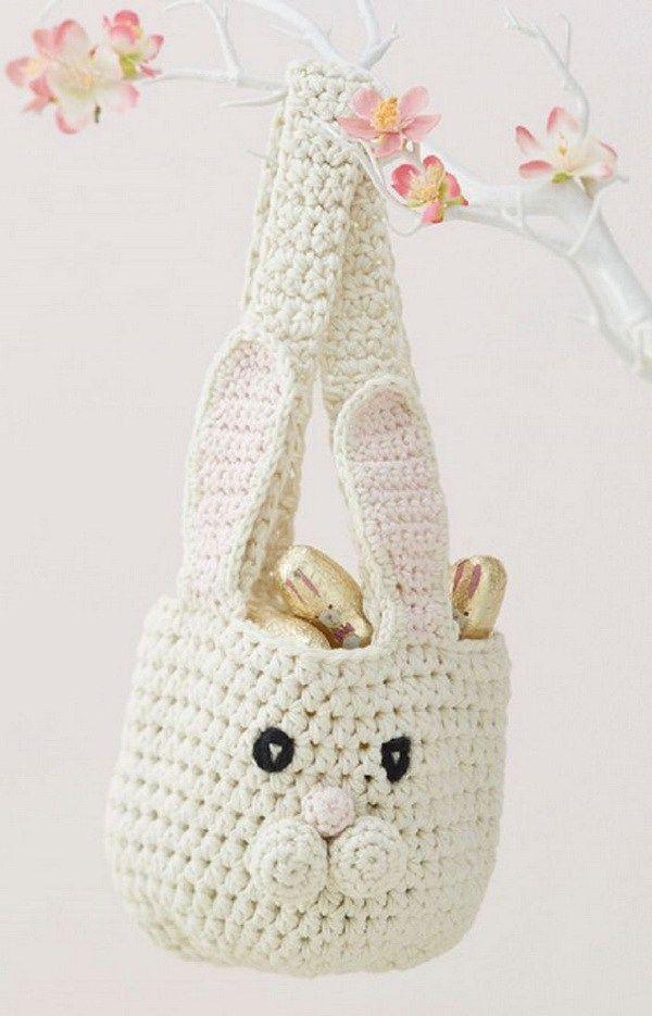 Bunny Basket Crochet Pattern. This crochet bunny basket makes the ...