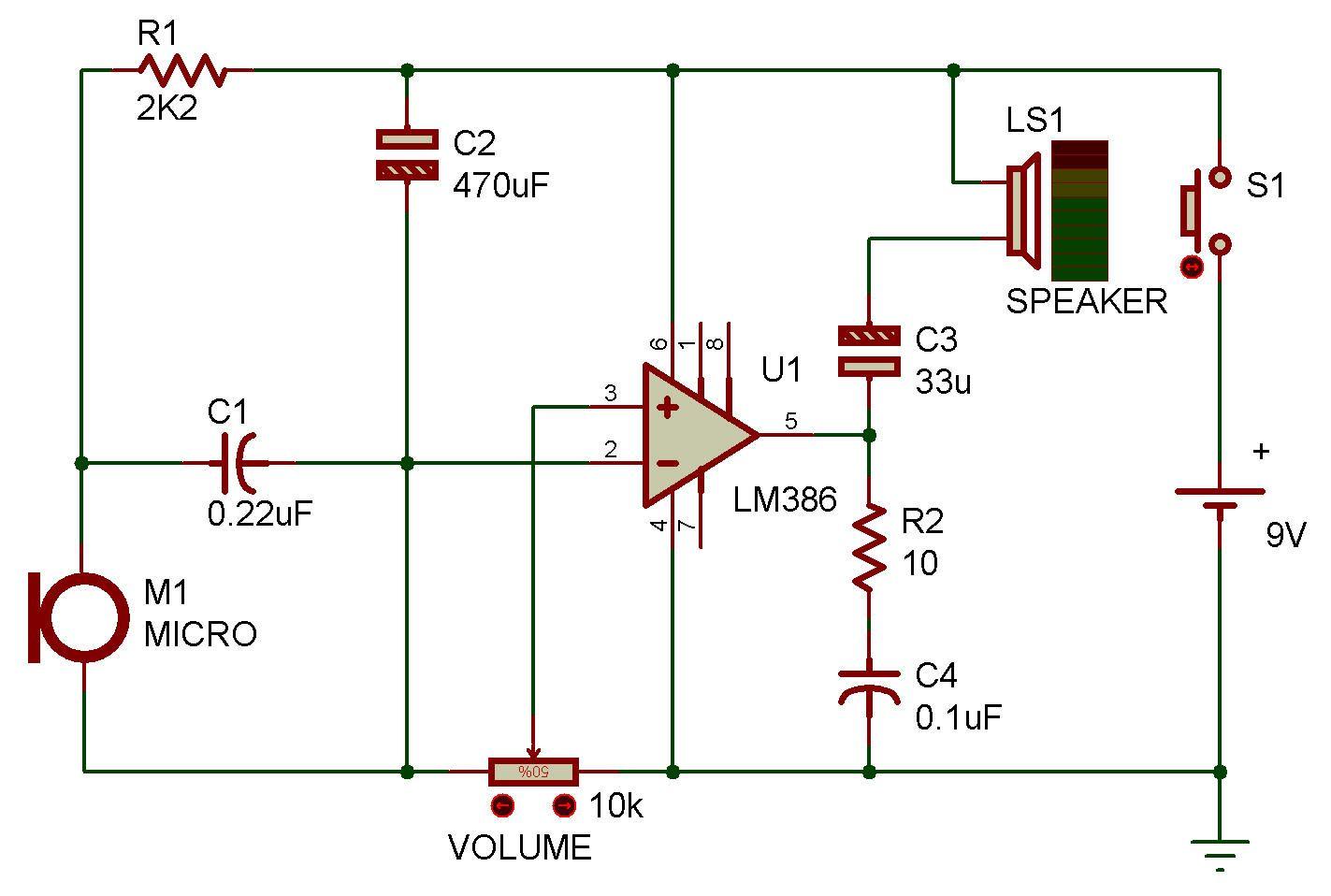 Http Www Zpag Net Electroniques Aop Megaphone Simple Html Audio Amplifier Megaphone Electronics