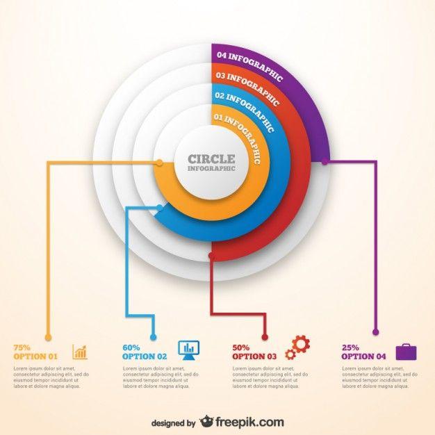 Plantilla circular de infografía Vector Gratis … | a | Pint…