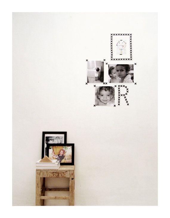 Nero croce Stickers cross parete adesivi di tayostudio su Etsy