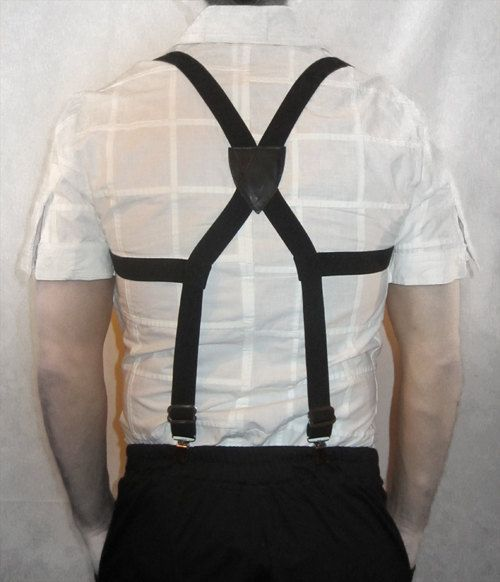 Extra Wide Adjustable Elastic Mens Suspenders Clip-On Braces Trouser ZY
